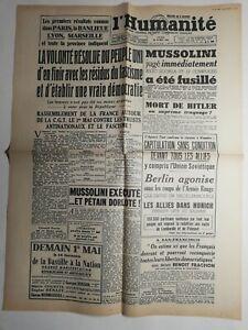 N381-La-Une-Du-Journal-L-039-humanite-30-avril-1945-volonte-resolu-peuple-uni