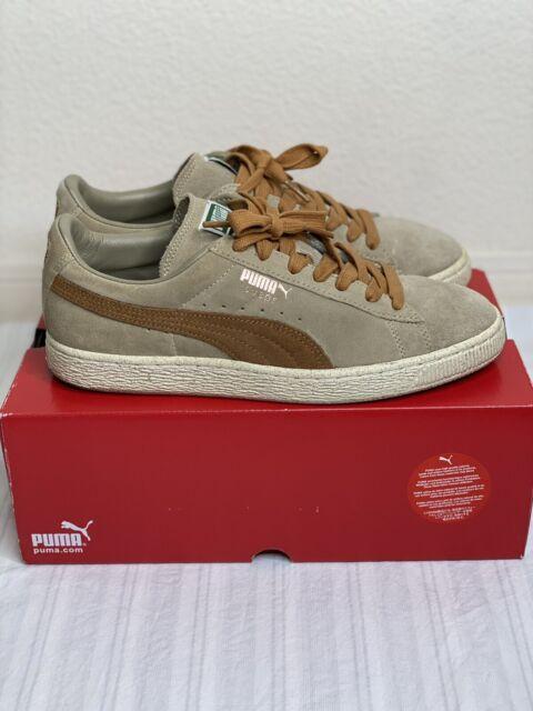 tan puma sneakers