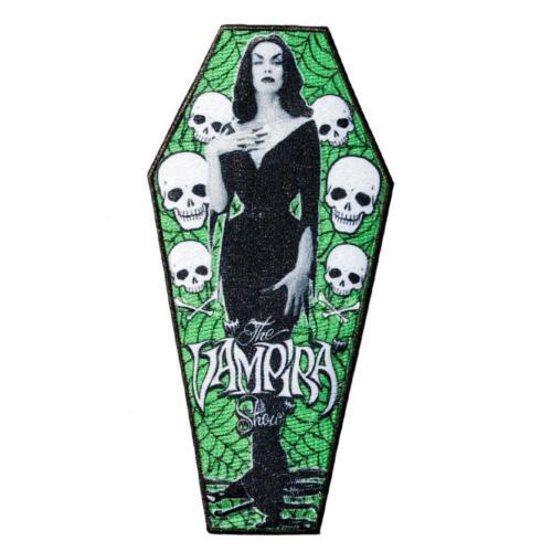 Kreepsville 666 The Vampira Show Vampire Horror Punk Goth Coffin Patch PTVC