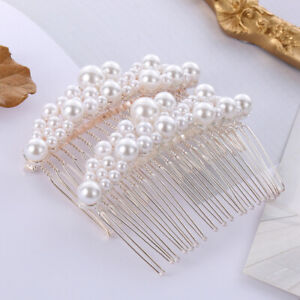 Handmade Hair Ornaments Bride Barrette Hairwear Pearl Hairpin Bridal Headpiece