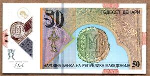 2018 MACEDONIA 50 DENARI POLYMER P-NEW UNC