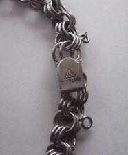 Vintage Sterling Silver JB Heart Charm Bracelet Circa 1950