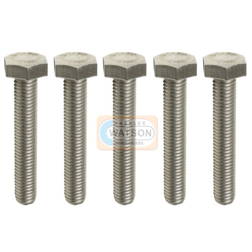 Pack 10 M6X40 Hex Set Screw Threaded Zinc Hexagon Head Bolt Bzp Fixing 6mm