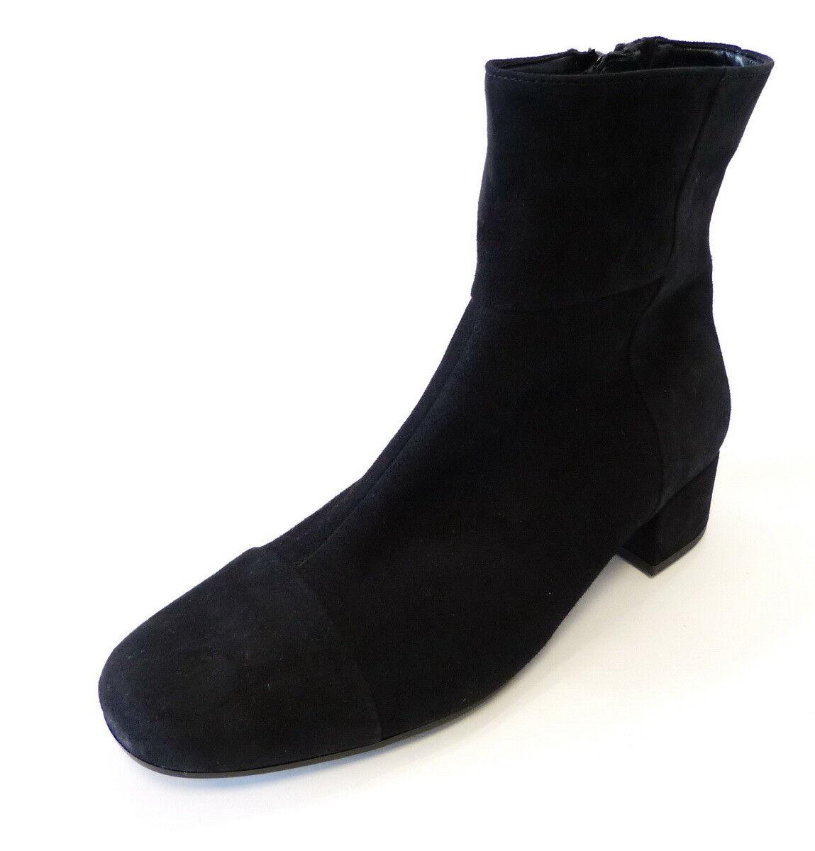 Gabor Stiefelette 851 17 schwarz Samtchevreau Leder Reißverschluß
