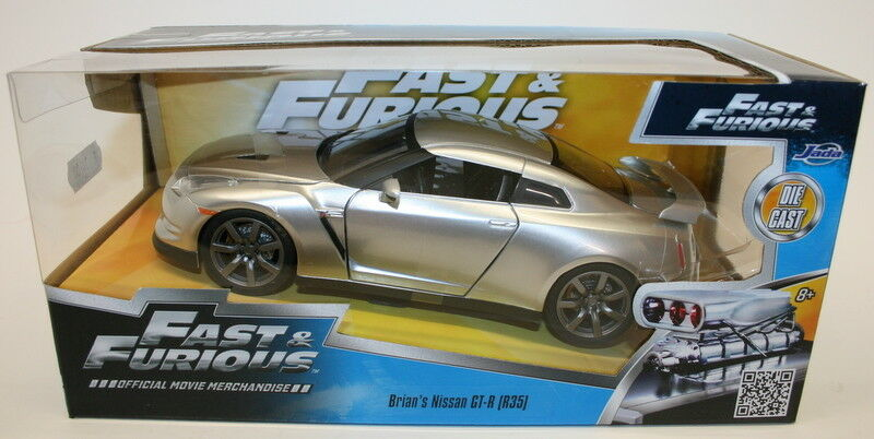 JADA 1 24 Scale 97212 - Fast & Furious Model Car - Brian's Nissan GT-R R35