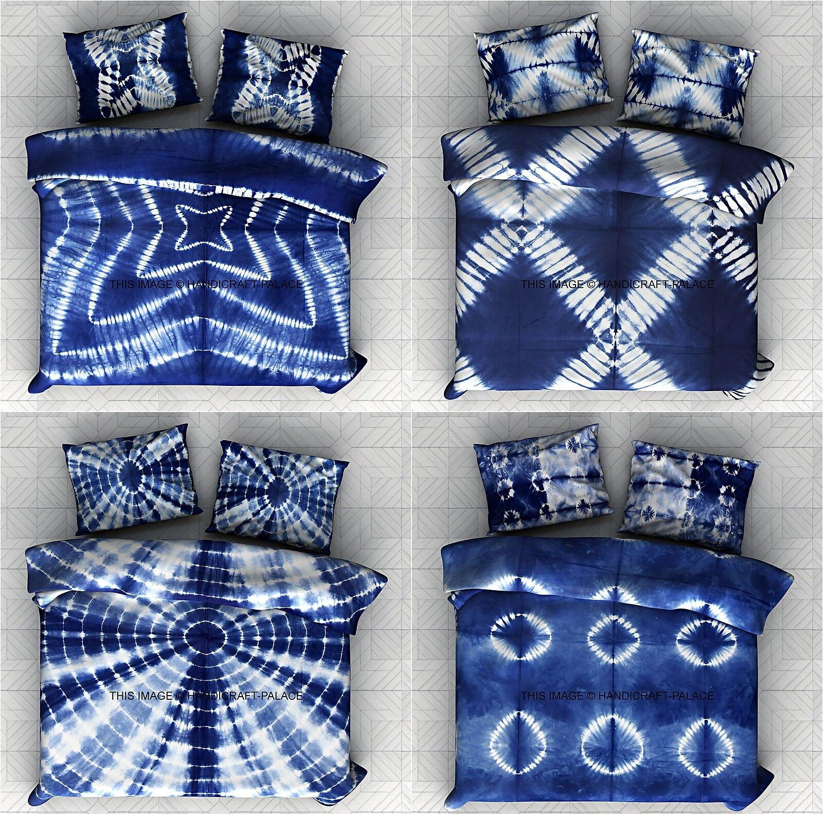5 PC Wholesale Lot Tie Dye Indigo Blau Shibori King Duvet Blanket Cover Indian