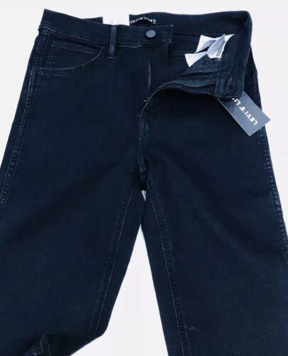 Femme Taille Haute Pour Levi's Jeans 8 Noir Ligne Stretch Nm0v8nw