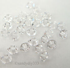 144 x SWAROVSKI 5328 CLEAR CRYSTAL 3mm XILION BICONE CRYSTAL BEAD