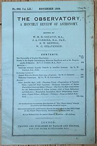 The-Observatory-a-monthly-review-of-astronomy-London-1929-libro-astronomia