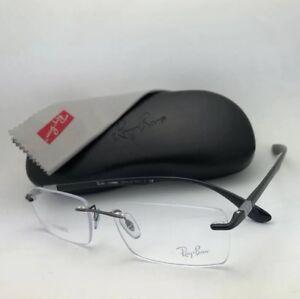 fcf977c2744 New RAY-BAN LITEFORCE Eyeglasses RB 8724 1000 56-17 145 Rimless ...