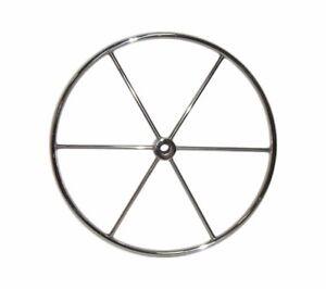 Stainless-Steel-28-034-Dia-Destroyer-Wheel-6-Spoke-1-034-Straight-Bore-1-4-034-Keyway