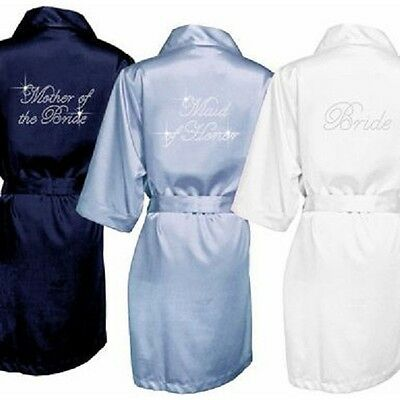 USA Gown Rhinestone Bridal Robe Bridal Party Robes Bride Bridesmaids