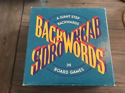 Backwords Back Words Vintage Board Game. Complete. Straatprijs
