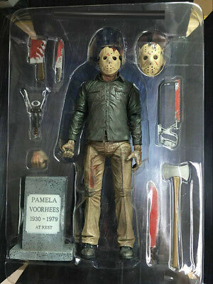 """Friday the 13th Part IV 3D JASON VOORHEES 7/"""" Scale Ultimate Action Figure In USA"""
