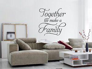 Together We Faire Un Famille Décoration Murale Autocollant Mural