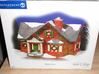 DEPT 56 SNOW VILLAGE NOKOMIS HOUSE NIB