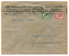 SUOMI FINLAND, ENVELOPE, ANNULS HELSINGFORS, FEB 1919, STAMPS 5 + 10      m