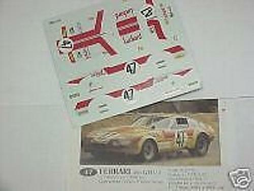 FERRARI 365 GTB4 DAYTONA N.47 LE MANS 1975 1//43 DECALS