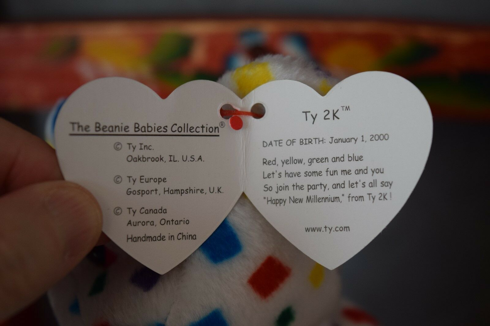 1999 Signature Bear and Ty 2K 2K 2K beanie babies with error, rare tag, mint condition 3057fc