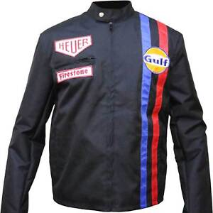 Steve-McQueen-Le-Mans-Driver-Car-Racing-Gulf-Multiple-Straps-Leather-Jacket