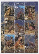 DINOSAUR PREHISTORIC ANIMAL MONSTER SOMALIA 2002 MNH STAMP SHEETLET