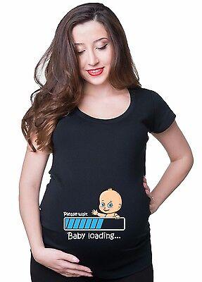 Pregnancy T-shirt Baby Loading Tee Shirt Baby Announcement MaternityT-shirt