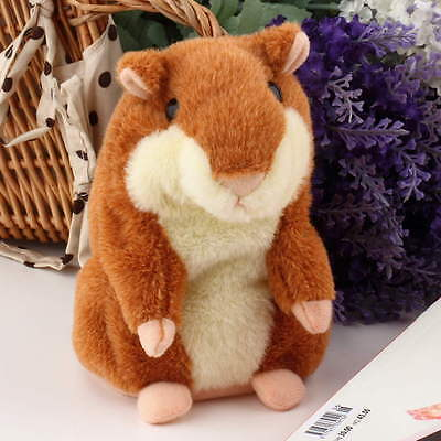 Lovely Talking Hamster Plush Toy Hot Cute Speak Talking Sound Record Toy F5