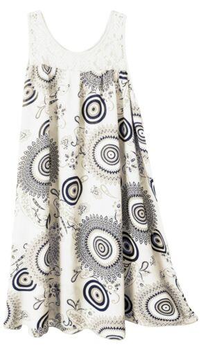 Sommermode Strandkleid für den Urlaub Gr 38-44 luftige Sommerkleider Damen