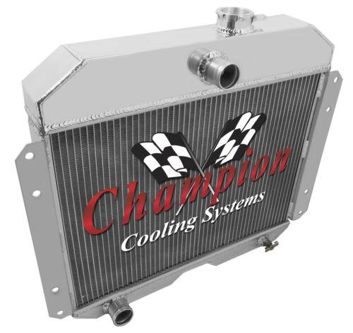 1951-1953 Willys Aluminum 3 Row Champion Radiator