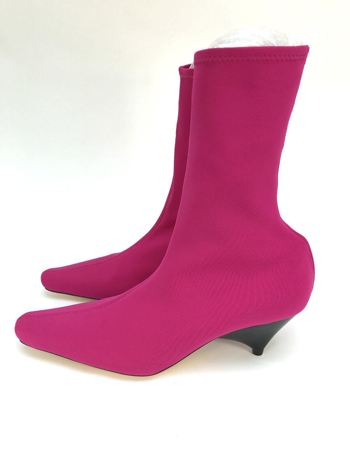 Zara Fuchsien UK Socke Ankle Stiefel Größe UK Fuchsien 3 4 5 6 7 8 f7e764