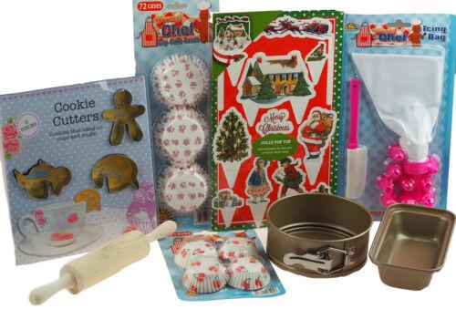 JUNIOR Cuochi Cucina Di Natale Set-Kids 8 Pezzi Cucinare//Cottura Set Set B