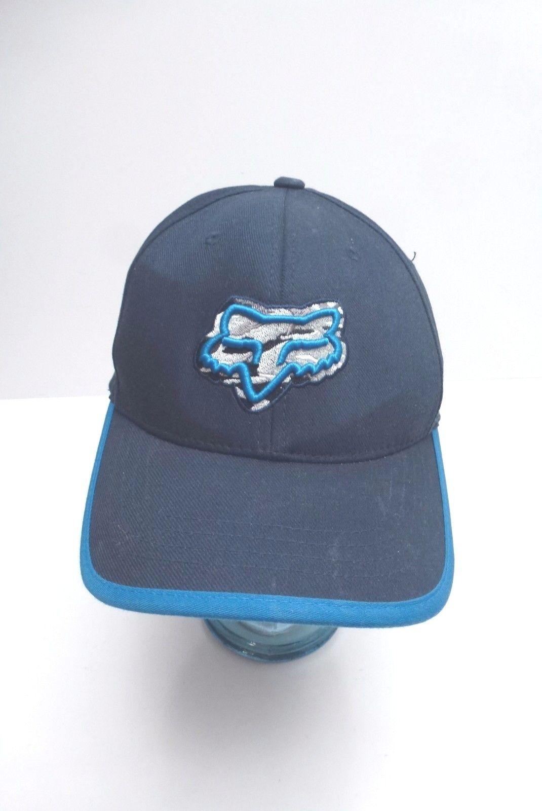 FOX Men's Blue Cap Flex Fit Navy Blue Men's Hat 5302cc