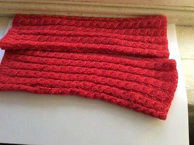 Acquista A Buon Mercato Red Cashmere Hand Knit Polso Cablati Gilet Imbottiti-mostra Il Titolo Originale Ultima Tecnologia