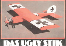 """Model Airplane Plans (RC): DAS UGLY STIK 60"""" for .40-.60 w/Assembly Instructions"""