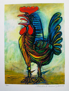 Pablo-Picasso-THE-ROOSTER-Estate-Signed-amp-Numbered-Small-Giclee-Art