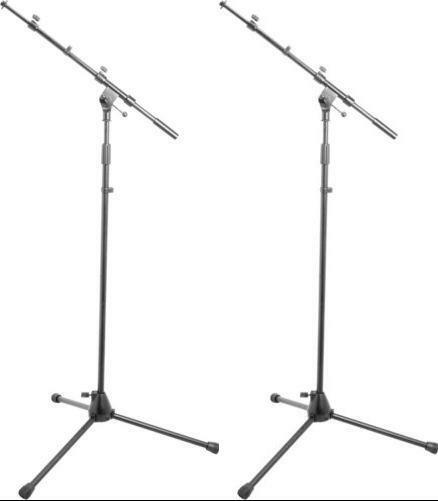 (2) NEW On-Stage Stands MS9701TB Tripod Boom Mic Stand Authorised Dealer!!