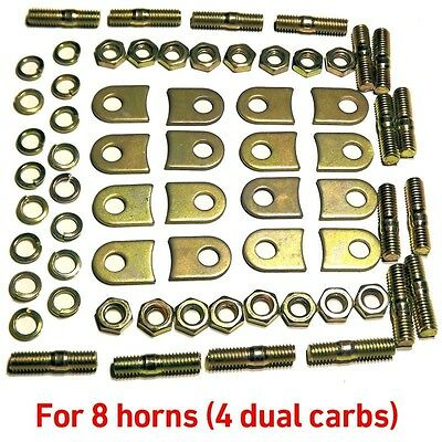 8x AIR HORN TABs for WEBER 40 DCOE Dellorto Ram Pipe trumpet clamp #52150.012