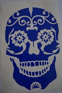Bumper-Vinyl-Sticker-car-Motorbike-decal-window-Bike-skeleton-Candy-Skull