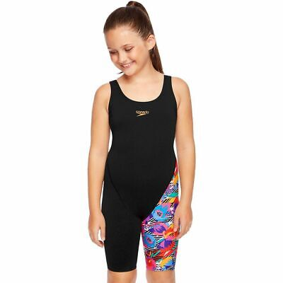 Girls Swimsuit Speedo Girls Leaderback Legsuit Swimwear Primitive Flower
