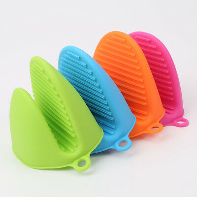 Kitchen Glove Heat Resistant Grip Baking BBQ Mitt Oven Pot Holder Silicone NEW