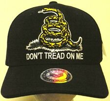 72582f38 DON'T TREAD ON ME RATTLESNAKE GADSDEN AMERICAN FLAG TEA PARTY MARINES CAP  HAT L