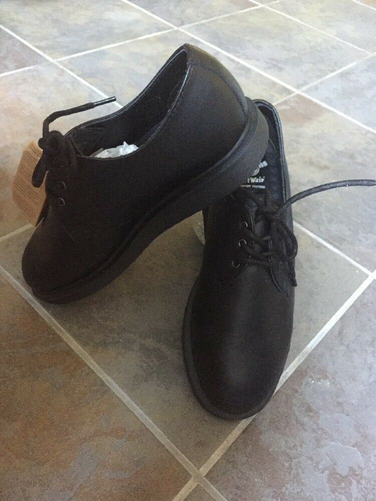 Dr. Martens Black Torriano Leather Shoes Womens Sz 6 Men's Sz 5 AirWair NEW