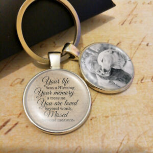 Memorial-Pet-Lose-Blessing-Remembrance-Charm-Dog-Cat-Photo-Personalized-Keyring