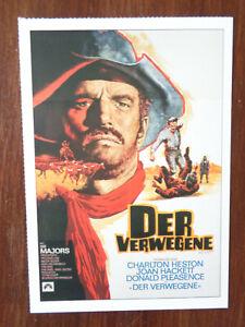 Filmplakatkarte-moviepostercard-Der-Verwegene-Charlton-Heston