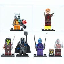 6Pcs Set Guardians of the Galaxy Groot Raccoon MiniFigures Building Blocks Toys