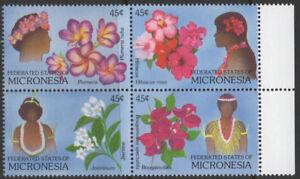 """1989- Micronésie """"Décorations florales"""" Set de 4 SG117-20 U-M.-afficher le titre d`origine yP81VyhQ-07160031-123395680"""