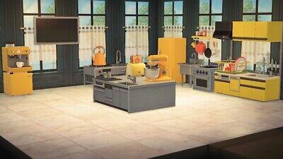 Animal Crossing New Horizons Kitchen Yellow Furniture Set ... on Kitchen Items Animal Crossing  id=64250