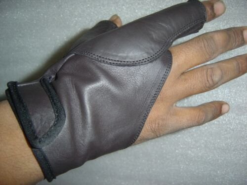 TRADITIONAL BOW SHOOTING LEATHER GLOVE TOP QUALITY GLOVE 100/% REAL LEATHER