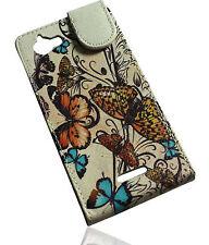 Design 2 Flip Style Handy Tasche Cover Case Hülle für Sony Xperia L (S36h)
