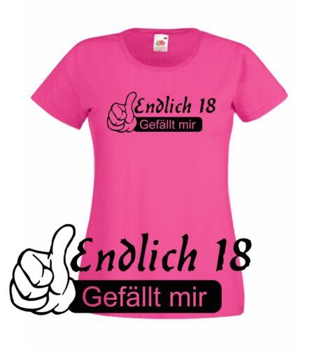 Geburtstags Geschenk zum 18 T-Shirt  Endlich 18 Ladyshirt 18 T-Shirt